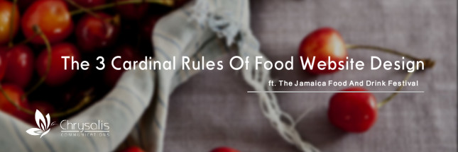 cardinal rules of food websites